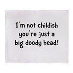 Childish Doody Head Throw Blanket