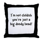 Childish Doody Head Throw Pillow