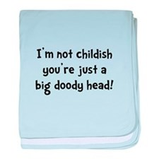 Childish Doody Head baby blanket