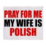 Pray Wife Polish Throw Blanket