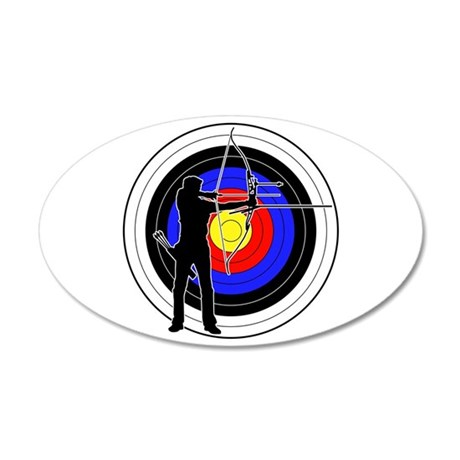 Archery & target 01 35x21 Oval Wall Decal