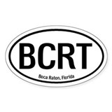 Boca Raton, Florida Oval Decal