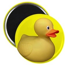 "Big Rubber Duck on Yellow 2.25"" Magnet (100 pack)"