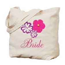Pink and Purple Bride Hibiscus Flower Tote Bag