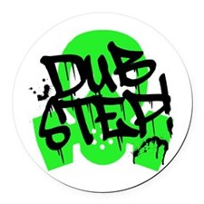 Dubstep Green Gas Mask Round Car Magnet
