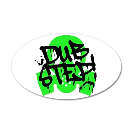 Dubstep Green Gas Mask 20x12 Oval Wall Decal