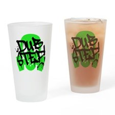 Dubstep Green Gas Mask Drinking Glass