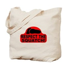 Red RESPECT THE SQUATCH! Tote Bag