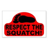 Red RESPECT THE SQUATCH! Decal