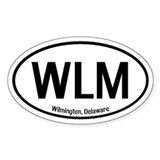 Wilmington, Delaware Oval Decal