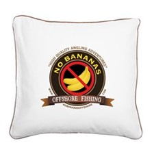 No Bananas Square Canvas Pillow
