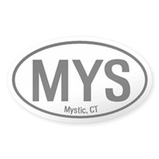 Mystic, Connecticut Oval Decal
