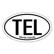 Telluride, Colorado Oval Bumper Stickers