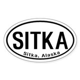 Sitka, Alaska Oval Decal
