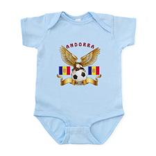 Andorra Football Design Infant Bodysuit