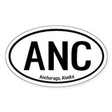 Anchorage, Alaska Oval Decal