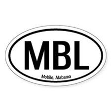 Mobile, Alabama Oval Decal