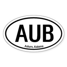Auburn, Alabama Oval Decal