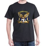 Barbados Football Design T-Shirt
