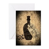 drink-me-bottle_13-5x18.jpg Greeting Cards (Pk of