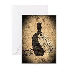 Drink Me Bottle Worn Greeting Card