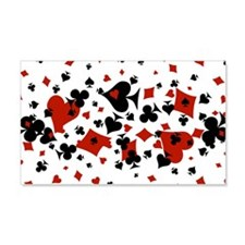 Scattered Card Suits Wall Decal