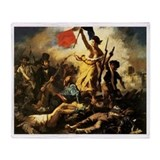Eugene Delacroix Liberty Throw Blanket