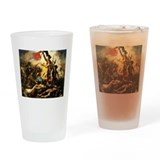 Eugene Delacroix Liberty Drinking Glass