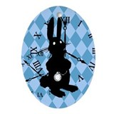 rabbit-late_13-5x18.png Ornament (Oval)