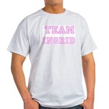 Pink team Ingrid Ash Grey T-Shirt