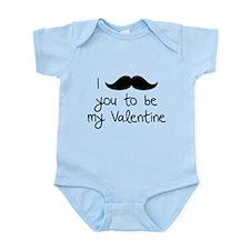 I Mustache You To Be My Valentine Onesie