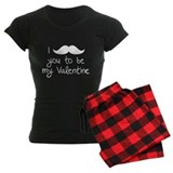 I Mustache You To Be My Valentine pajamas