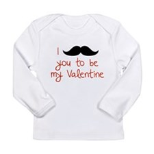 I Mustache You To Be My Valentine Long Sleeve Infa