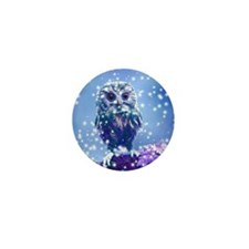 Snow Owl Mini Button