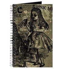 Alice Drink Me Collage Journal
