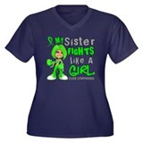 Fights Like a Girl 42.9 Lymphoma Women's Plus Size