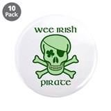 Wee Irish pirate 3.5&quot; Button (10 pack)