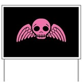 winged-skull_pink_12x18.png Yard Sign