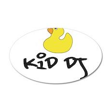 Kid DJ Duckie 20x12 Oval Wall Decal