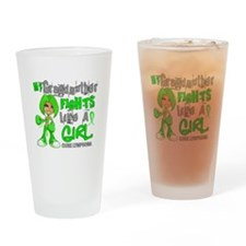Fights Like a Girl 42.9 Lymphoma Drinking Glass