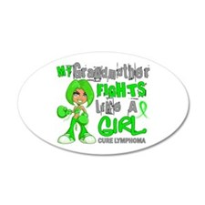 Fights Like a Girl 42.9 Lymphoma Wall Decal