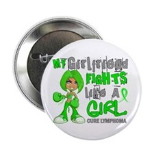 "Fights Like a Girl 42.9 Lymphoma 2.25"" Button (10"