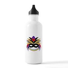 Mardi Gras Feather Mask Water Bottle