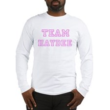 Pink team Haydee Long Sleeve T-Shirt