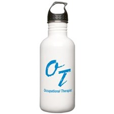 OT, blue Sports Water Bottle