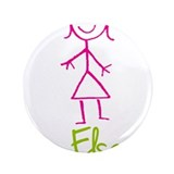 "Elsa-cute-stick-girl.png 3.5"" Button (100 pack)"