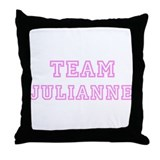 Pink team Julianne Throw Pillow