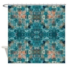 Subaqueous Kaleidoscope Shower Curtain