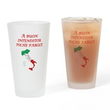 Italian Proverb Good Listener Drinking Glass
