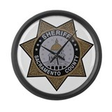 Sacramento County Sheriff badge Large Wall Clock